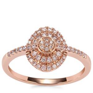 Natural Pink Diamond Ring in 18K Rose Gold 0.27ct