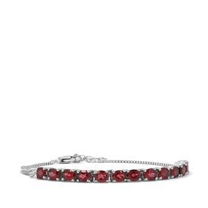 Octavian Garnet Bracelet in Sterling Silver 5.53cts