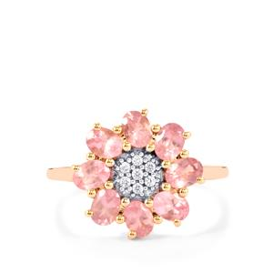 Mozambique Pink Spinel Ring with White Zircon in 9K Rose Gold 1.61cts