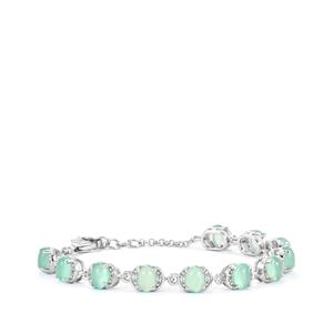 Aquaprase™ Bracelet with White Topaz in Sterling Silver 6.18cts