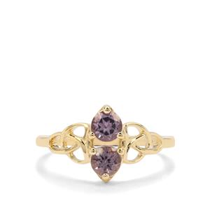 0.83ct Mahenge Purple Spinel 9K Gold Ring