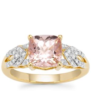 Cherry Blossom™ Morganite Ring with Diamond in 18K Gold 2.3cts