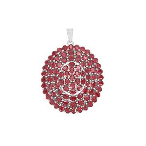 Malagasy Ruby Pendant in Sterling Silver 21.62cts (F)