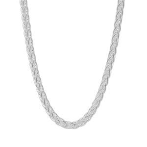 """32"""" Sterling Silver Dettaglio Mini Spiga Slider Chain 9.53g"""