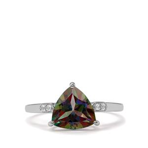 Mystic Ring with White Topaz in Sterling Silver 2.84cts