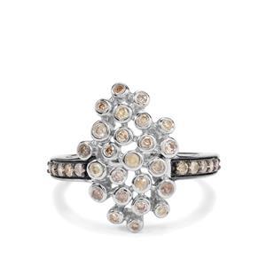 1/2ct Multi-Colour Diamond Sterling Silver Ring