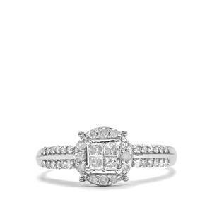 Diamond Ring in 10k White Gold 0.51ct