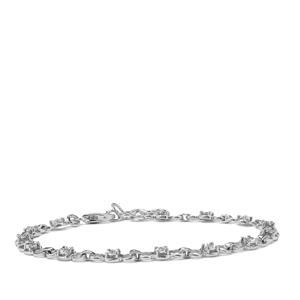 Diamond Bracelet in Sterling Silver 0.10ct
