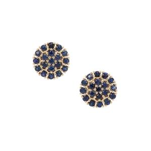 Australian Blue Sapphire Earrings in 9K Gold 1.56cts