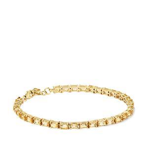 8.52ct Ouro Preto Imperial Topaz 10K Gold Tomas Rae Bracelet