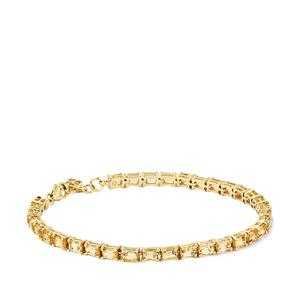 Ouro Preto Imperial Topaz Bracelet in 10K Gold 8.52cts