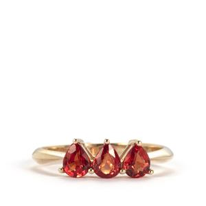 Winza Ruby Ring in 9K Gold 1.23cts