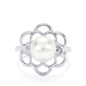 South Sea Cultured Pearl Ring in Sterling Silver (10mm x 9mm)