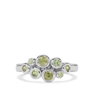 1.07ct Ambanja Demantoid Garnet Sterling Silver Ring