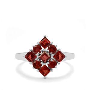 1.70ct Nampula & Rajasthan Garnet Sterling Silver Ring
