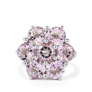 7.48ct Rose De France Amethyst Sterling Silver Ring
