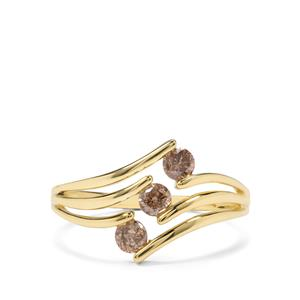 1/2ct Champagne Diamond 9K Gold Ring