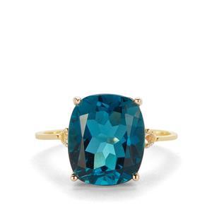 6.75ct Marambaia London Blue & White Topaz 9K Gold Ring