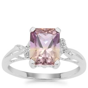 Anahi Ametrine Ring with White Zircon in Sterling Silver 2.09cts