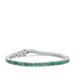 7.12ct Zambian Emerald Sterling Silver Bracelet