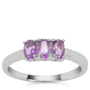Moroccan Amethyst Ring in Sterling Silver 0.64ct