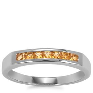 Golden Tourmaline Ring in Sterling Silver 0.31ct