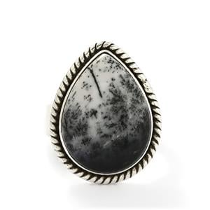 14.00ct Turkish Dendrite Sterling Silver Aryonna Ring