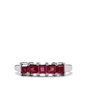 1.10ct Rajasthan Garnet Sterling Silver Ring