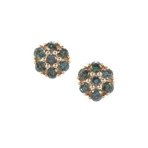 Miova Loko Garnet Earrings in 9K Gold 0.59ct
