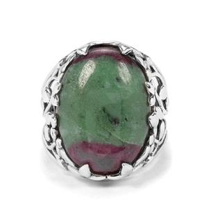 18.21ct Ruby -Zoisite Sterling Silver Ring