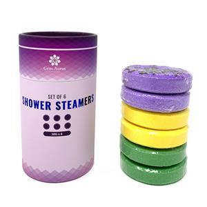 Gem Auras Essential Oils Shower Steamers with Lemongrass, Eucalyptus & Lavender Fragrance