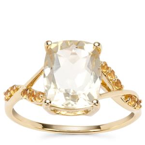 Serenite Ring with Diamantina Citrine in 9K Gold 2.88cts