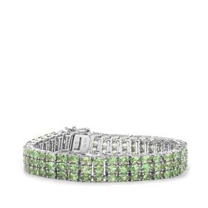 Tsavorite Garnet Bracelet in Sterling Silver 23.52cts