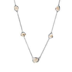 Kaori Cultured Pearl Necklace in Sterling Silver