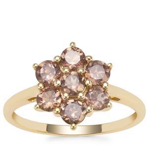 Bekily Colour Change Garnet Ring in 9K Gold 1.38cts