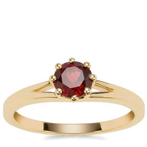 Rajasthan Garnet Ring in Gold Plated Sterling Silver 0.80ct