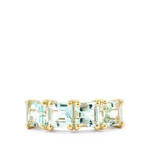 Espirito Santo Aquamarine Ring in 10k Gold 2.25cts