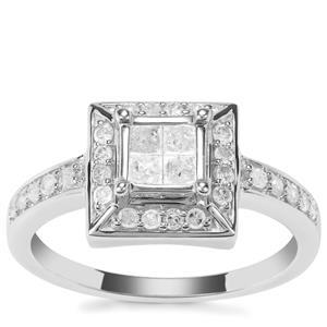 Diamond Ring in 9K White Gold 0.49ct