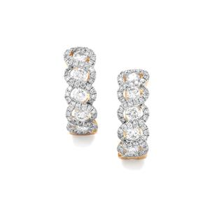 1ct Diamond 18K Gold Tomas Rae Earrings