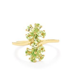 Ultraviolet Color Change Garnet Ring in 10k Gold 1.31cts