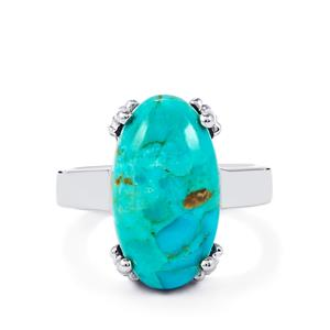 7.58ct Cochise Turquoise Sterling Silver Ring