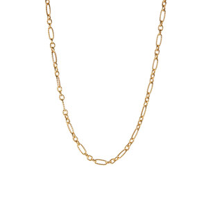 """20"""" 9K Gold Couture Twist Detail Figaro Chain 3.37g"""