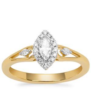 Diamond Ring in 18K Gold 0.35ct