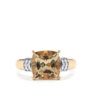 Serenite Ring with Diamond in 18K Gold 2.86cts