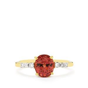 Colour Change Garnet & Diamond 18K Gold Toams Rae Ring MTGW 2.44cts