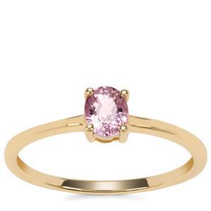 Sakaraha Pink Sapphire Ring in 9K Gold 0.44ct