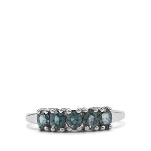1.12ct Nigerian Blue Sapphire 9K White Gold Ring