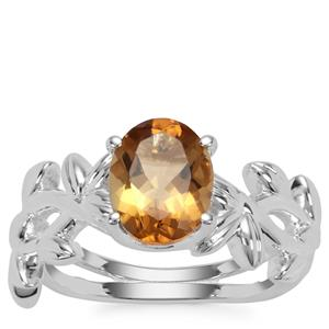 Golden Tanzanian Scapolite Ring in Sterling Silver 1.55cts