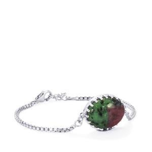 Ruby-Zoisite Bracelet in Sterling Silver 17.90cts