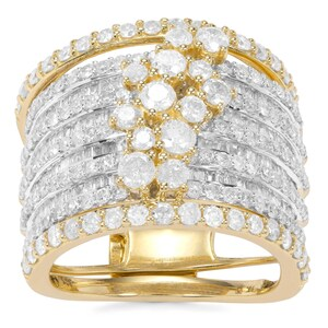 Diamond Ring in 9K Gold 2.95cts